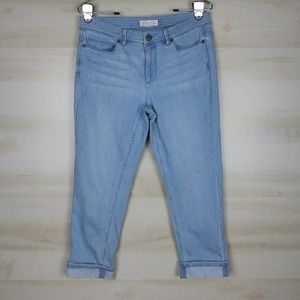 J. Jill Authentic Fit Cropped Cuffed Denim Jeans